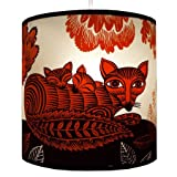 Lush Designs London Fox & Cubs Lampshade