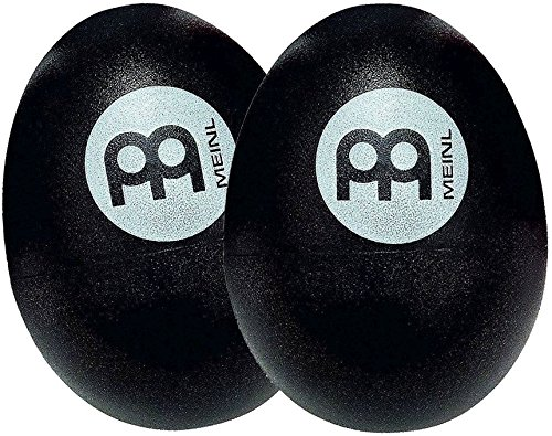 Meinl Percussion ES2-BK Set of Two Plastic Egg Shakers, Black