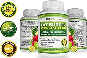 Oz Formulas Fat Burner Power Blend - Best Weight Loss Metabolism Supplement For Menwomen - The All Natural Appetite Suppression Diet Pill That Really Works - Quality And Satisfaction Guaranteed from OZ Formulas