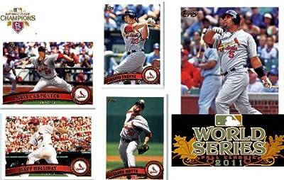 MEGA SET - 37 Cards of the 2011 WORLD SERIES CHAMPS! St. Louis Cardinals - Complete Topps Series 1 & 2 Team Set / Including Albert Pujols, Daniel Descalso RC. Mott, Lynn, Berkman & More!