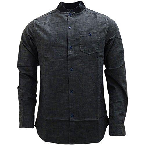 Brave Soul -  Camicia Casual  - Basic - Con bottoni  - Maniche lunghe  - Uomo grigio X-Large