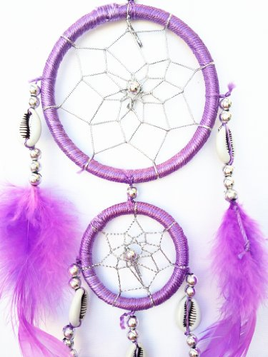 Purple Dream Catcher Wall or Car Hanging Ornament ( with a Betterdecor Logo Gift Bag)-2r