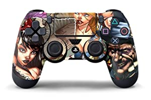 PS4 Controller Designer Skin for Sony PlayStation 4 DualShock Wireless Controller - Mad Hatter