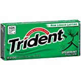 Trident Gum, Spearmint, 18-Count (Pack of 12)
