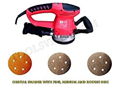Powerful orbital rotary sander 125mm,480w motor and 14000 rpm for sanding wood