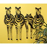 Design Toscano MH2089 Static Stripes Sculptural Zebra Wall Frieze