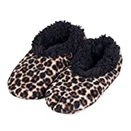 Snoozies Leopard Print Fleece Lined W…