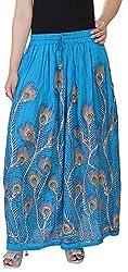Soundarya Women's Cotton Skirt (Blue)