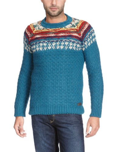 energie Shaun R Neck Pullover Men's Jumper Blue X-Large