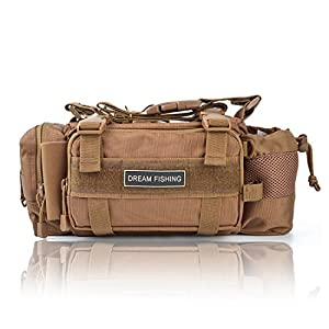 BLISSWILL Outdoor Multifunctional Fishing Tackle Bag Water-Resistant sided Waist Shoulder Carry Strap Storage Waist Pack Sling Bag Fishing Gear Storage for Fishing Hiking Climbing Hunting