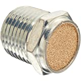 "Parker 047080008 Sintered Bronze Breather Vent, 1/2"" NPT Male, 0.88"" Length, 150 psi"