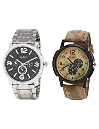 Relish Analog Round Casual Wear Watches For Men Combo - B01ANCDUD8