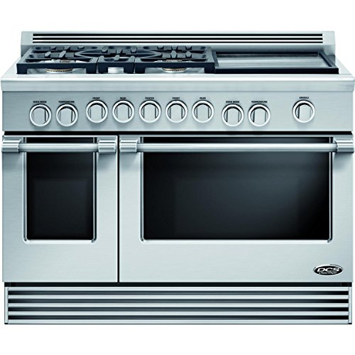 DCS-RGV485GDN-Professional-48-Stainless-Steel-Gas-Slide-In-Sealed-Burner-Double-Oven-Range-Convection