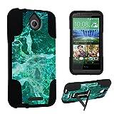 DuroCase ® HTC Desire 510 Kickstand Bumper Case - (Jade Marble)