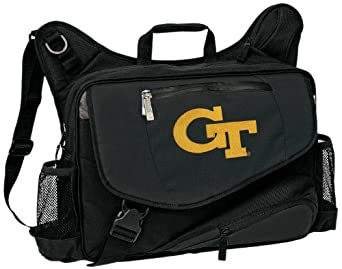 Georgia Tech Laptop Computer Messenger Bag Yellow Jackets Logo Our Best NCAA Co by Broad Bay
