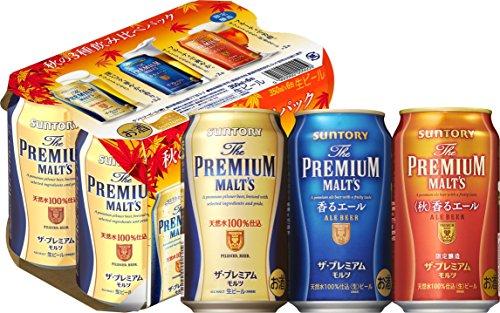 サントリー ザ・プレミアム・モルツ 秋の3種飲み比べセット 350ml×24本