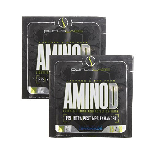 Aminod By Purus Labs, Sample Pack - Pre/Intra/Post-Workout Mps Enhancer Supplement: 2 Packets (Blue Razz Lemonade)