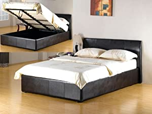 5Ft King Size Brown Ottoman Storage Bed from House2Home