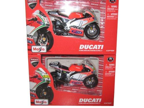 2012 GP Ducati Desmosedici 2 Motorcycle Set Hayden / Rossi 1/18 by Maisto 34582