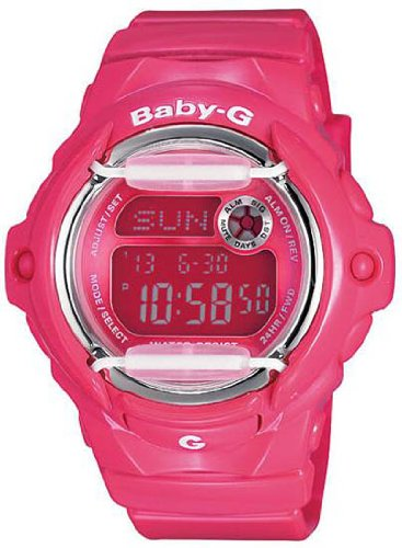 Casio Baby-G Whale Watch - Deep Hot Pink - 25 Page Databank - 200 Meters
