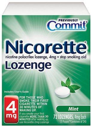 Nicorette Lozenge Mint 4 mg 72-CountB00007KVI4