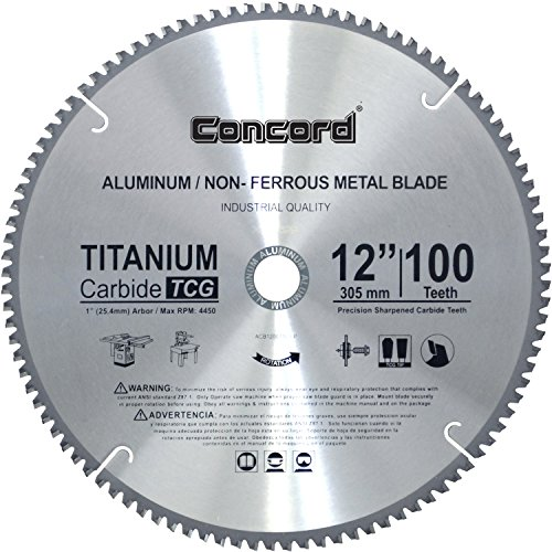 Concord Blades ACB1200T100HP 12-Inch 100 Teeth TCT Non-Ferrous Metal Saw Blade (12 Aluminum Blade compare prices)