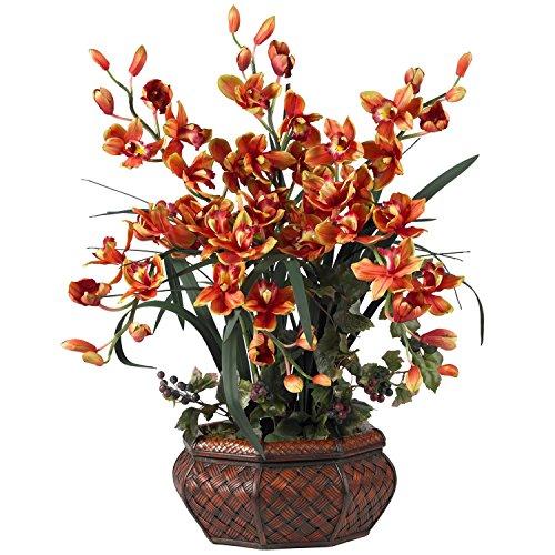 Nearly Natural Large Cymbidium Silk Flower Arrangement