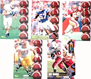 1994-95 - Classic / NFL - 5 Football Trading Cards / Autograph Edition - Ron Moore / Tony Boselli / Kevin Carter / Mike Mamula / Kyle Brady - Out of Production - Like New - Limited Edition - Collectible