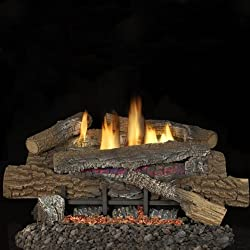 Superior Fireplaces 18-inch Vent-free Natural Gas Blaze N Glow Ramp Burner - Remote Ready