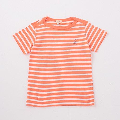(ハッシュアッシュ)HusHusH ヨット刺しゅうボーダーTシャツ オレンジ(367) 13(130cm)