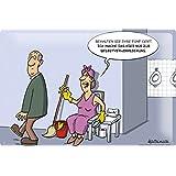 Plaque en emaillee Cartoon Holtschulte toilettes publiques propres Brush Tip toilette poster de papier