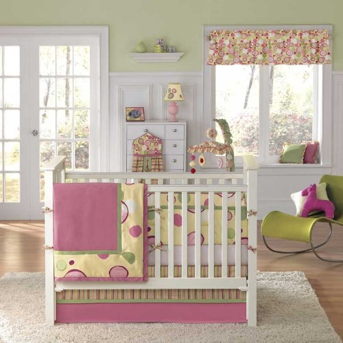 Bananafish Bubble Gum 4 Piece Crib Bedding Set