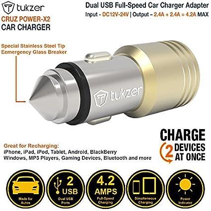 Tukzer TZ-CC-102 4.8A Dual USB Car Charger