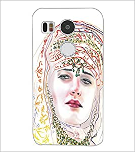 PrintDhaba Painted Girl D-5320 Back Case Cover for LG NEXUS 5X (Multi-Coloured)