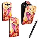 SAMSUNG GALAXY S3 S III i9300 CARD POCKET MAGNETIC BOOK FLIP PU LEATHER CASE COVER POUCH + FREE STYLUS