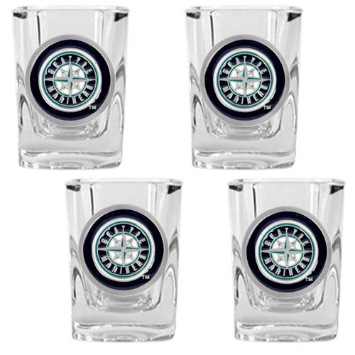 MLB Seattle Mariners Four Piece Square Shot Glass Set at Amazon.com