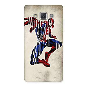 Power And Responsibility Multicolor Back Case Cover for Galaxy Grand 3