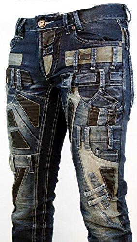 Highness -  Jeans  - Straight  - Uomo blu 30W x 34L