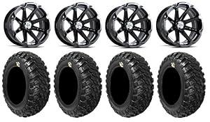 MSA Black Diesel 14″ ATV Wheels 30″ Kanati Mongrel Tires Polaris RZR 1000 XP / Ranger 900 XP