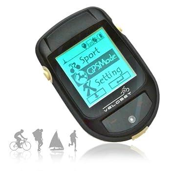 Veloset Handheld GPS Tracker & Cycle d'ordinateur sans fil GPS avec Trip, Altitude, Connexion Route GPS et cartographie, contre-jour, Touchpad, logiciel Performance