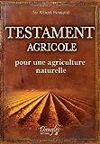 echange, troc Sir Howard Albert - Testament agricole - pour une agriculture naturelle