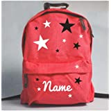 Pink Collection Personalised Stars Rucksack