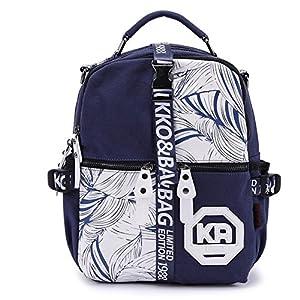 Multifonctionnel toile Casual Sacs à main / sac à dos / Sacs à bandoulière pour les femmes (Dark Blue)