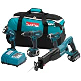 Makita LXT407 18-Volt LXT Lithium-Ion Cordless 4-Piece Combo Kit