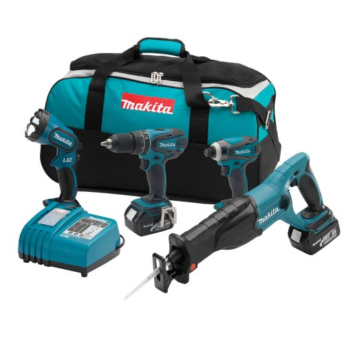 Lowest Prices! Makita LXT407 18-Volt LXT Lithium-Ion Cordless 4-Piece Combo Kit