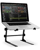 Resident DJL Laptop Stand - Support adaptable pour PC (Hauteur & Largeur Réglables, adaptable RACK DJ) - Acier Noir