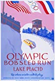 C1932 LAKE PLACID WINTER OLYMPIC GAMES VINTAGE OLYMPICS Up where winter calls to play 250gsm ART CARD Gloss A3 Reproduction Poster