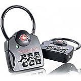 TSA Lock w/ SearchAlert by Tarriss, 2 Pack TSA Luggage Locks - Lifetime Warranty