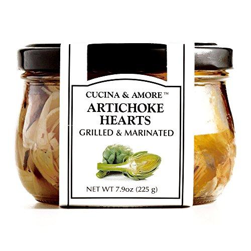 Cucina & Amore Grilled Artichoke Hearts 7.5 oz each (3 Items Per Order) (Grilled Artichoke Hearts compare prices)