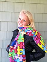 Autism Awareness Scarf